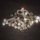 Bridal vintage style Corsage Czech crystal Rhinestone Brooch pin PI499
