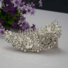 Bridal crystal Headwear rhinestone headpiece hair tiara topknot comb RB694