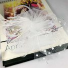 Bridal white dance bow veil feather Birdcage Fascinator net Hair clip BA214
