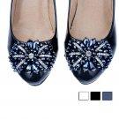 2 pcs bow Bridal high heel sandal Repair Rhinestone bead Shoe decoration SA18