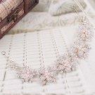 Baroque Bridal Rhinestone Faux pearl rhinestone silver crown Hair tiara HR439