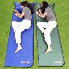 Outdoor Self-Inflating Mattress Pad Pillow Camping Hiking Picnic Sleep mat T11A