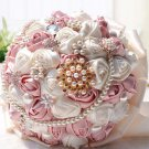 23 cm HANDMADE Wedding Brooch Bouquet Artificial Flower Faux pearl Posy WB26