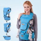 New 4 in 1 hip seat baby Backpack toddler shoulder carrier W Sunshine Hood HB7