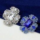 Elegant Bridal Clear Crystal Silver tone Rhinestone Brooch pin PI607
