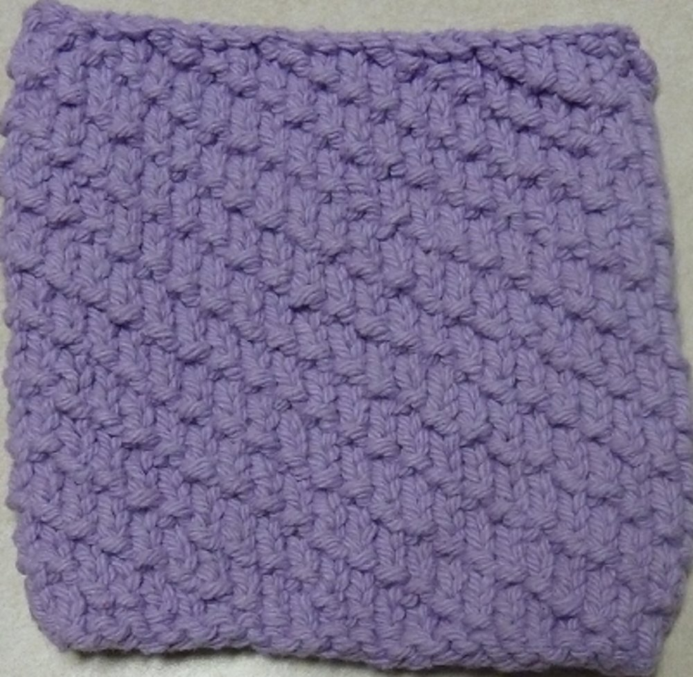 Knitted Serviette Pattern: Dazzling Diagonals