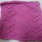 Knitted Serviette Pattern: Dainty Hearts