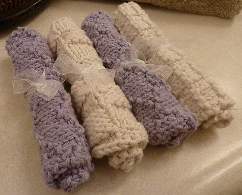 Lavender and Beige Slightly Damaged Serviettes