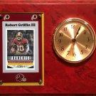 Robert Griffin III Washington Redskins Plaque clock.