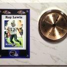Ray Lewis Baltimore Ravens Plaque clock.