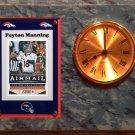 Peyton Manning Denver Broncos Plaque clock.