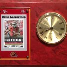 Colin Kaepernick San Francisco 49ers Plaque clock.