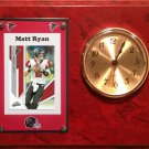Matt Ryan Atlanta Falcons Plaque clock.