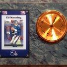 Eli Manning New York Giants Plaque clock.