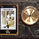Drew Brees New Orleans Saints Plaque clock.