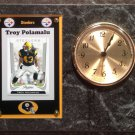 Troy Polamalu Pittsburgh Steelers Plaque clock.