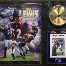 Ray Lewis Baltimore Ravens Photo Plaque clock.