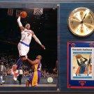 Carmelo Anthony New York Knicks Photo Plaque clock.