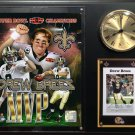 Drew Brees New Orleans Saints Photo Plaque clock.