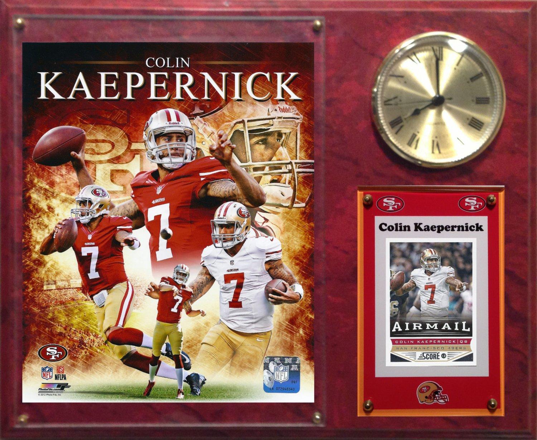 Colin Kaepernick San Francisco 49ers Photo Plaque clock.