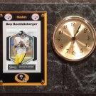 Ben Roethlisberger Pittsburgh Steelers Plaque clock.
