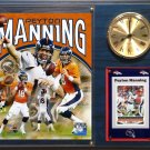 Peyton Manning Denver Broncos Photo Plaque clock.