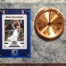 Dirk Nowitzki Dallas Mavericks clock.
