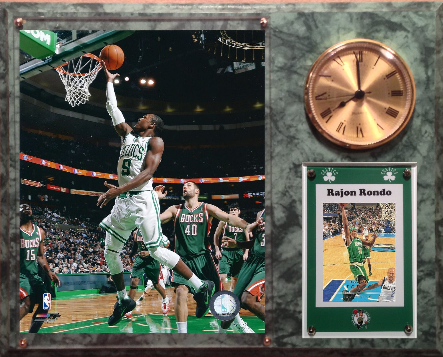 Rajon Rondo Boston Celtics Photo Plaque clock.