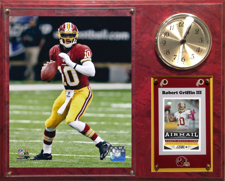 Robert Griffin III Washington Redskins Photo Plaque clock.