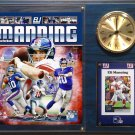 Eli Manning New York Giants Photo Plaque clock.