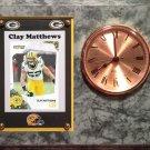 Clay Matthews Green Bay Packers Plaque clock.