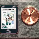 Michael Vick Philadelphia Eagles Plaque clock.