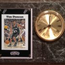 Tim Duncan San Antonio Spurs Plaque clock.
