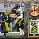 Clay Matthews Green Bay Packers Photo Plaque clock.
