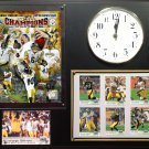 Super Bowl XLIII Champion Pittsburgh Steelers Photo Plaque clock..