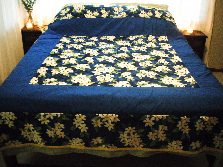Plumeria on Blue