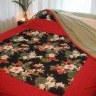 Exotic Red Hibiscus Quilt