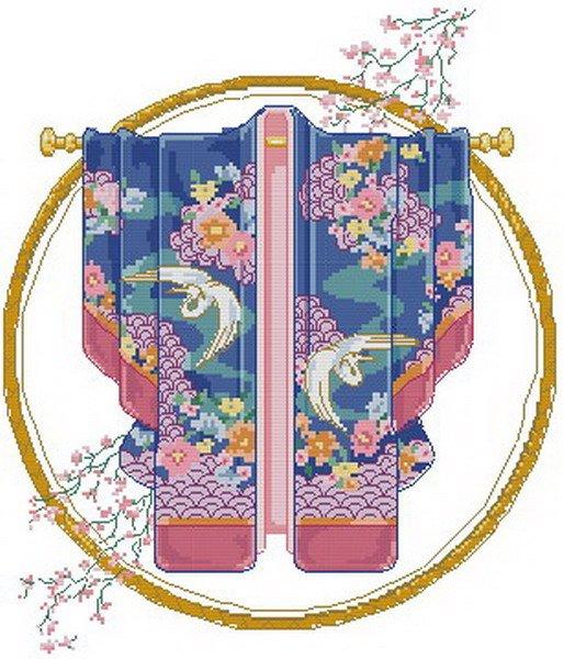 Blue Ribbons Kimono