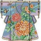 Buuterfly Flower Ribbons Kimono