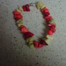 Bright color beaded bracelet