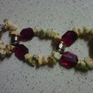yellow and purple watch band/bracelet