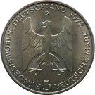 1978 D 5 Deutsche Mark Silver Coin Gustav Stresemann Germany Federal Respublic