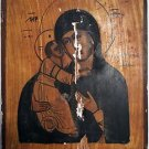Antique Old Russian Orthodox Hand Painted Wooden Icon 19th century, 225x180 mm