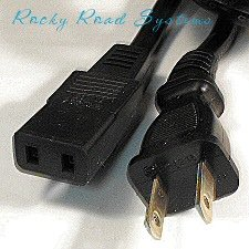 2-Prong Power Cord / Cable for  Yamaha KX88, Clavinova CVP-7, CP-35, PS-6100 and DX5