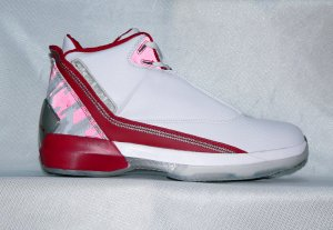 Mens Jordan XXII in White/Red/Grey