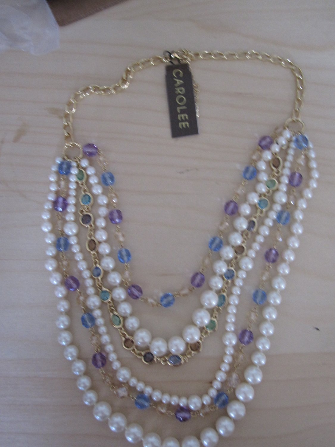 Carolee Pearls with Crystal Necklace