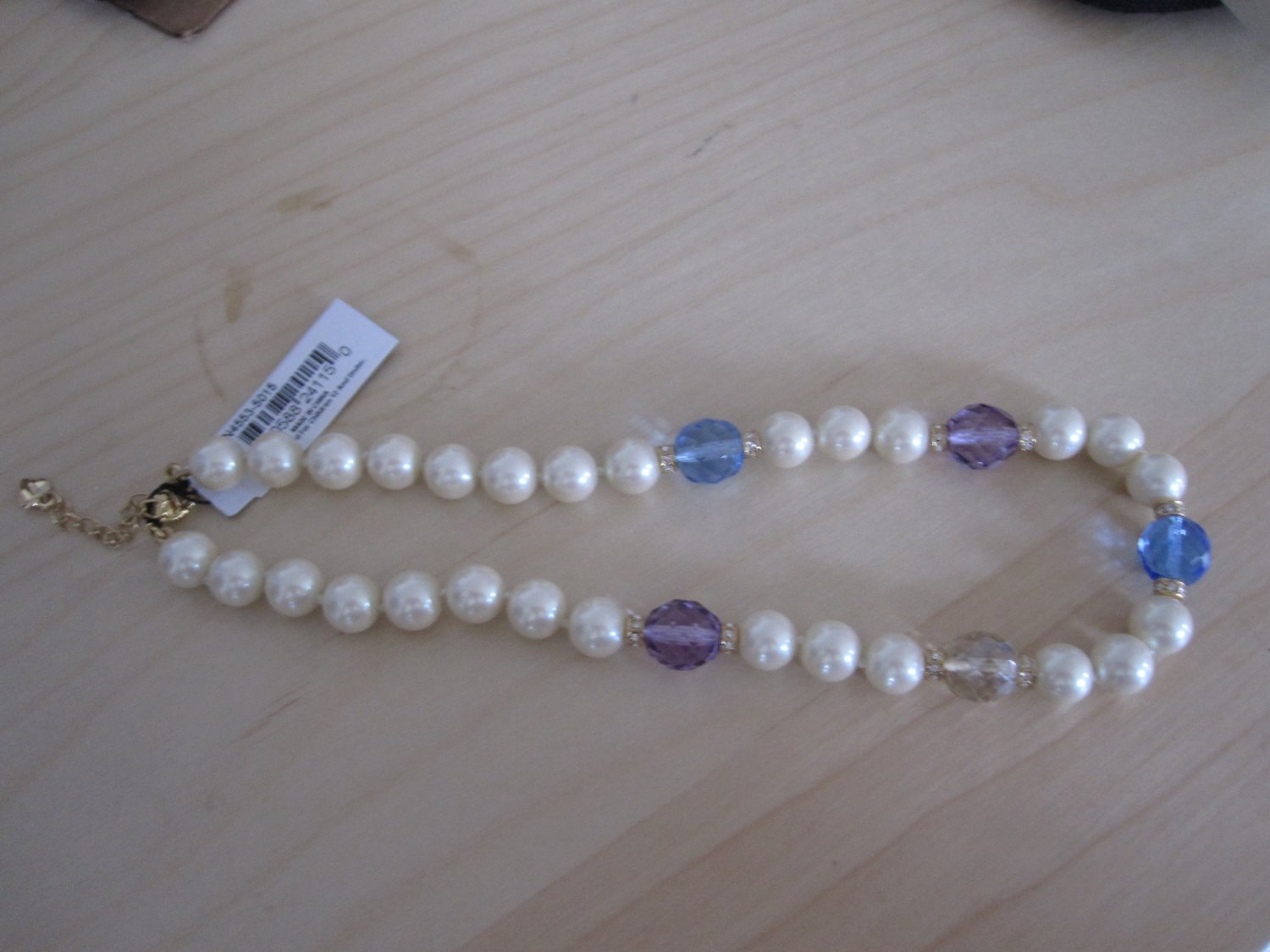 Carolee Pearl Necklace with Crystals