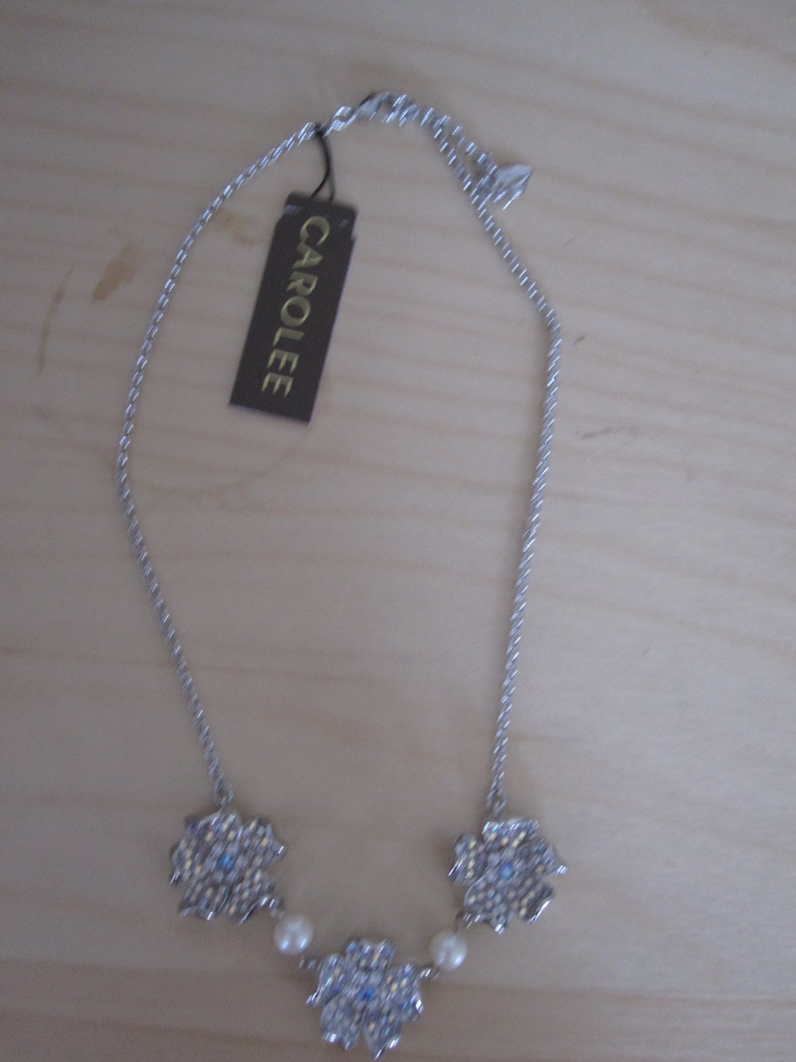 Carolee Flower Necklace with Crystals