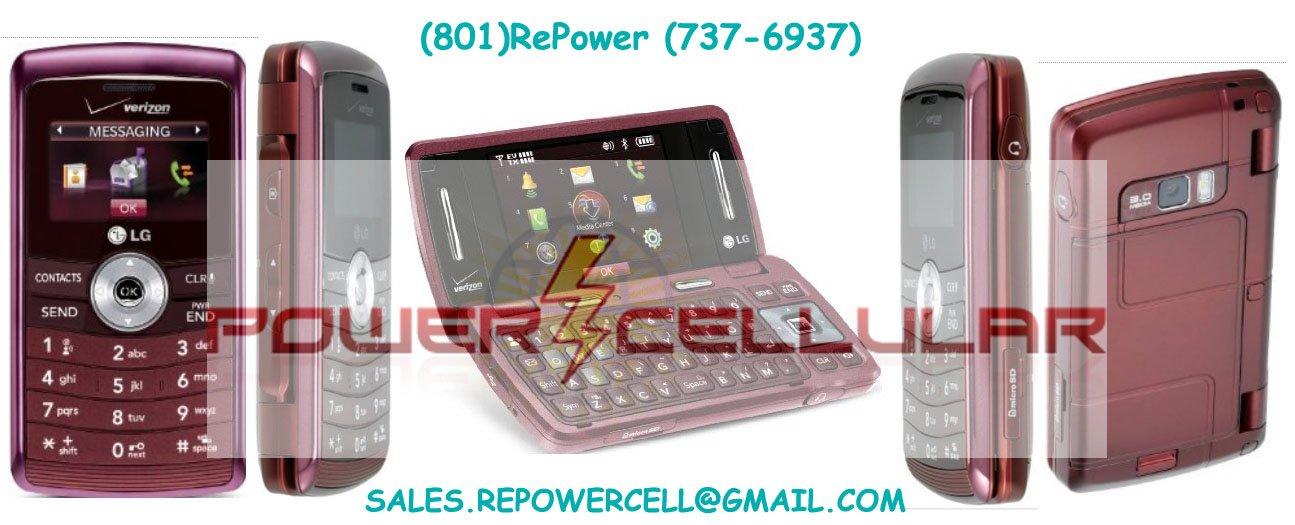 LG EnV3 VX9200 MAROON VERIZON QWERTY CELL PHONE MINT