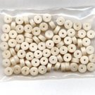Polymer Clay Heishi, White